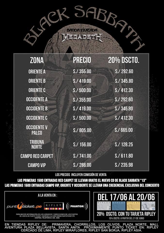 PeruMetal_VentaEntrada_BlackSabbath_Megadeth